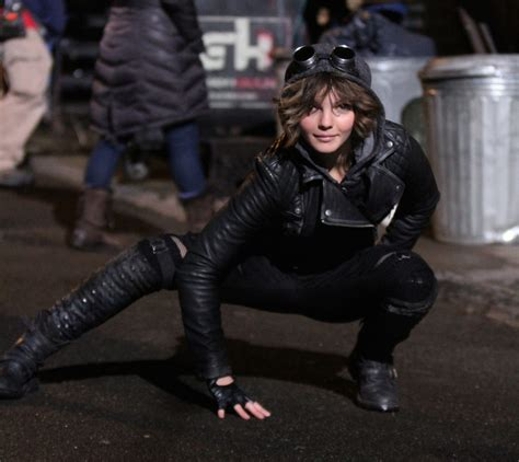 cat girl actress fox s gotham first look at bruce wayne our new