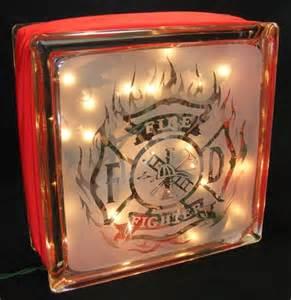 firefighter lights firefighter sandblasted glass block light walshdesigns