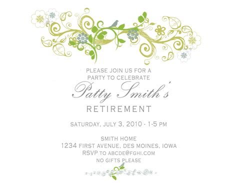 Free Retirement Invitation Templates idesign a retirement invitation