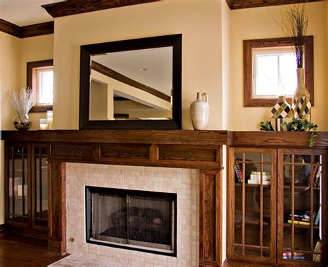bungalow fireplace bungalow prairie style custom fireplace craftsman