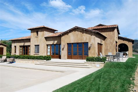 Faux Finish Walls tuscan style in the malibu hills ancient materials for