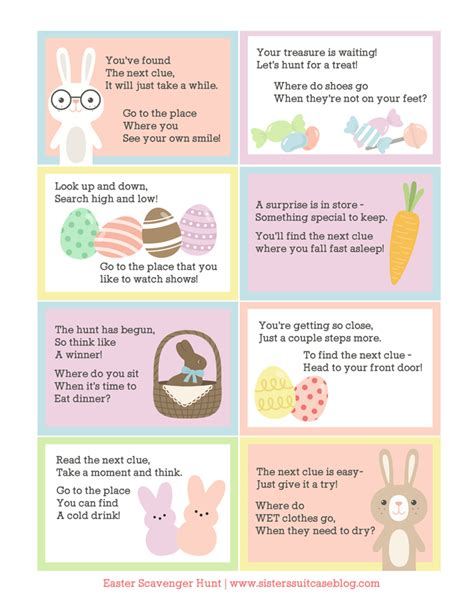 easter scavenger hunt easter scavenger hunt printable my sister s suitcase