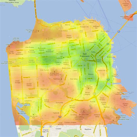 san francisco fog map 20 maps of san francisco they never showed you in your