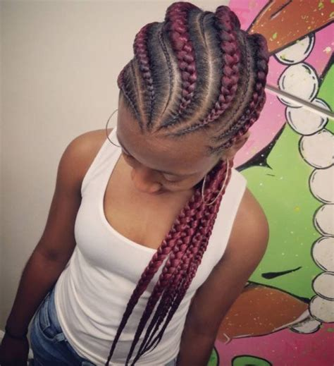 alternating fat and skinny cornrow hairstyles thick straight back braids hairstyles hairstyles