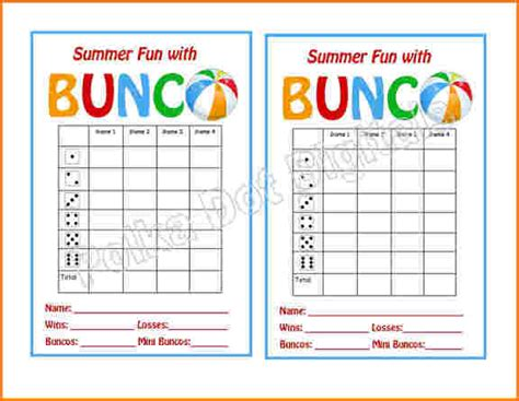 free bunco scorecard template 6 bunco score sheets template worker resume