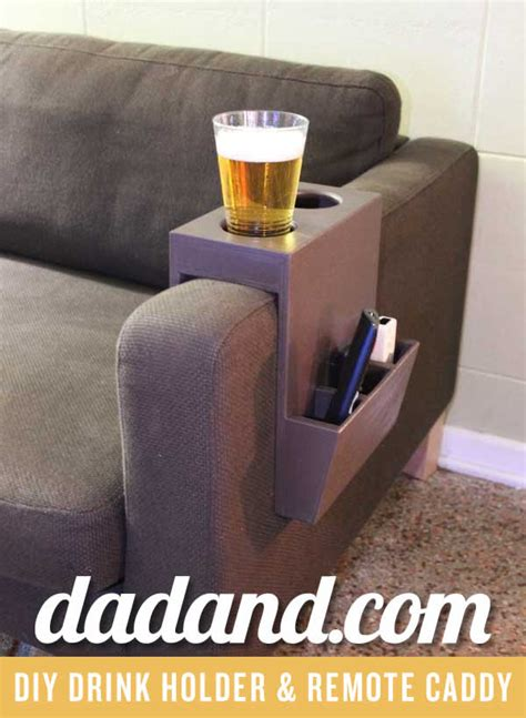 couch holder picture of beverage and remote caddy