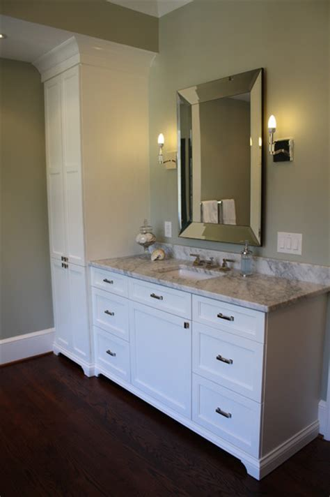 vanity tower cabinet matching his and master bath vanities and towers