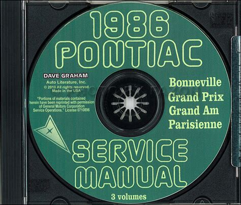 best auto repair manual 1986 pontiac bonneville electronic throttle control 1986 pontiac shop manual and body cd grand prix parisienne bonneville grand am ebay