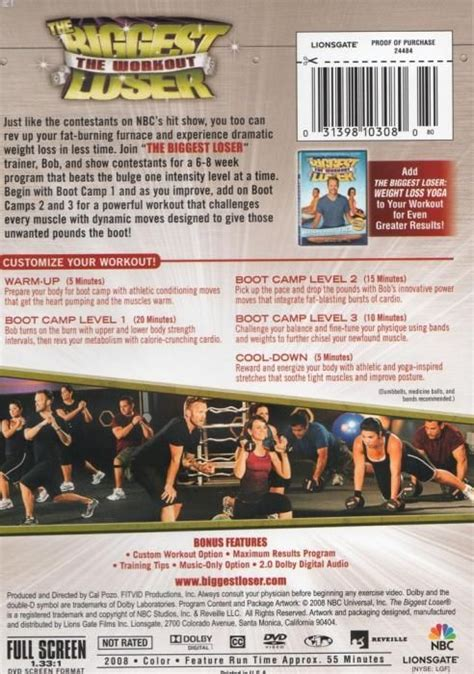 loser workout chart most popular workout programs