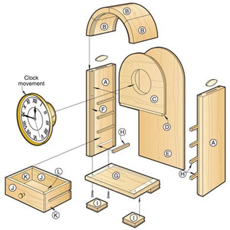 free clock plans woodworking pdf diy woodworking plans clocks woodworking on