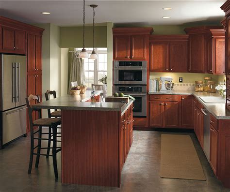 Cherry Kitchen Cabinets To Get Traditional Look In Your