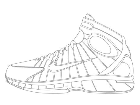 jordan shoe coloring pages coloring home