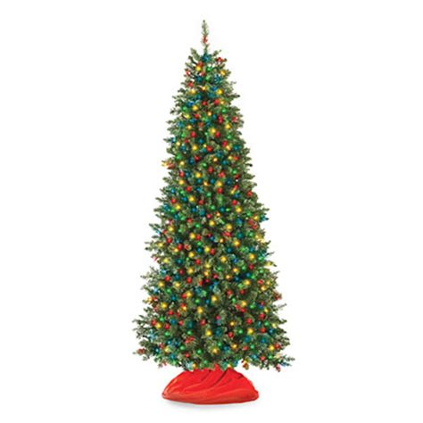 7 pre lit artificial christmas tree slim with multi
