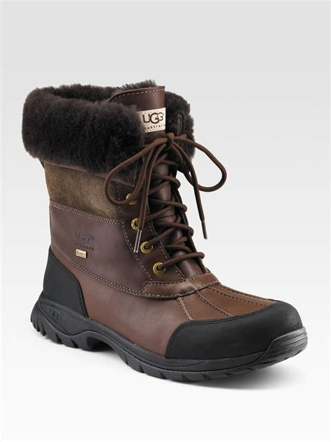 mens ugg butte boots ugg butte lace up boots in brown for club brown lyst