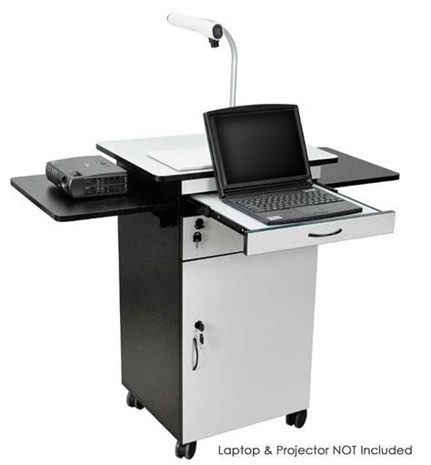 multimedia cart with locking multimedia stand for classrooms features built in locking