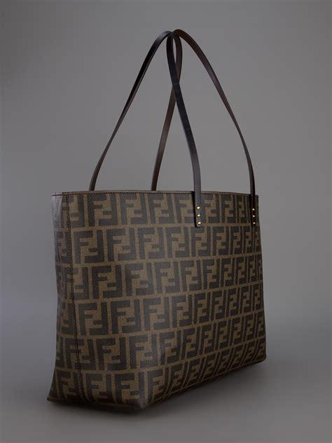 Fendi Shopper fendi monogram shopper tote in brown lyst