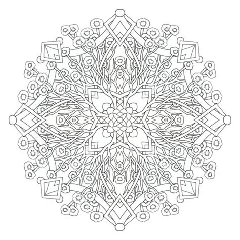 printable complex coloring pages complex mandala coloring pages