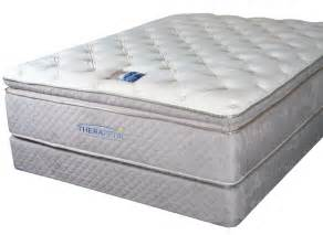 top mattress therapedic backsense pillow top mattresses