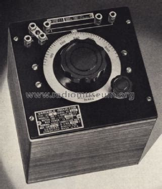 variable inductor radio variable inductor 107j equipment general radio company camb