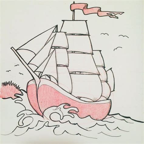 traditional boat drawing quick american traditional clipper ship drawing by dafoota