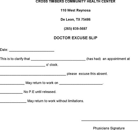 doctors note templates download free premium templates