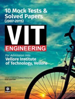 reference books for viteee vit vellore edge solved papers 10 mock tests 2007 2015