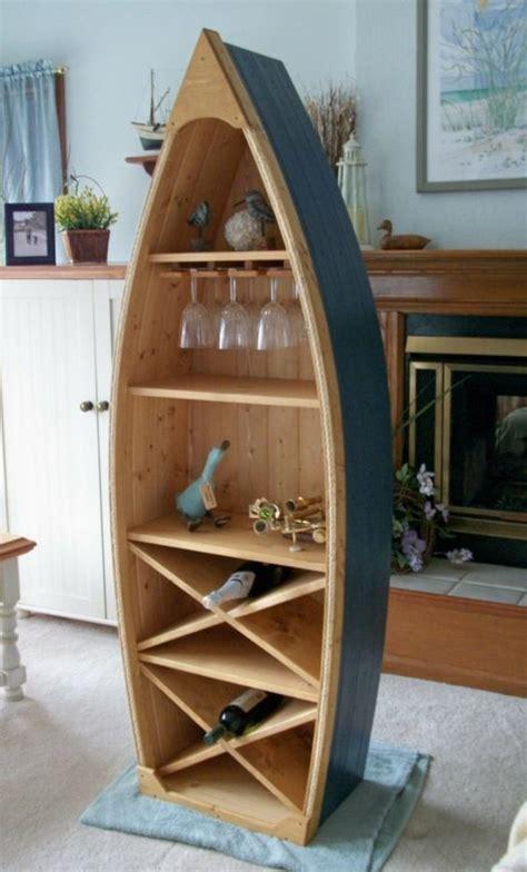 pallet boat bookshelf 6 ft boat wine rack glass holder bookcase shelf by