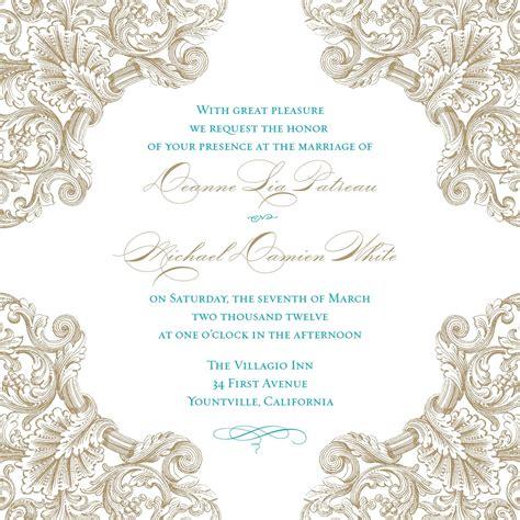 wedding invitation blank template
