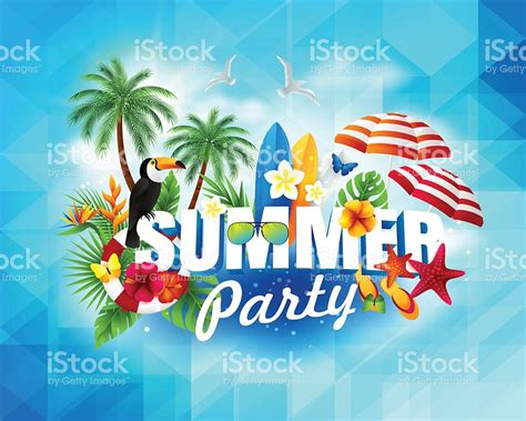summer parties summer party banner stock vector art 545268762 istock