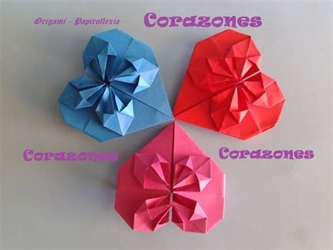San Origami - corazones origami and