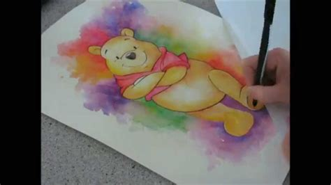 winnie the pooh painting watercolor winnie the pooh speed painting by fiona