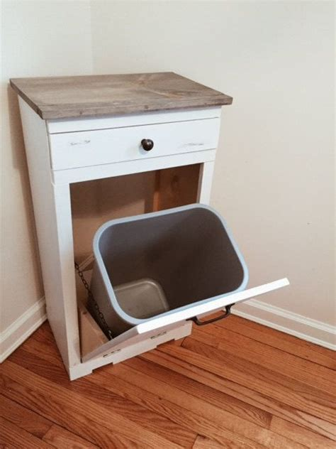 tilt out trash bin cabinet with drawer best 25 trash can cabinet ideas on