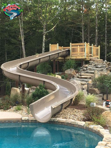 Water Slides For Backyard Pools by Residential Water Slides For In Ground Swimming Pools