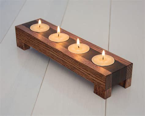 holz kerzenleuchter wood candle holder tea light candle holder home by ecokazen