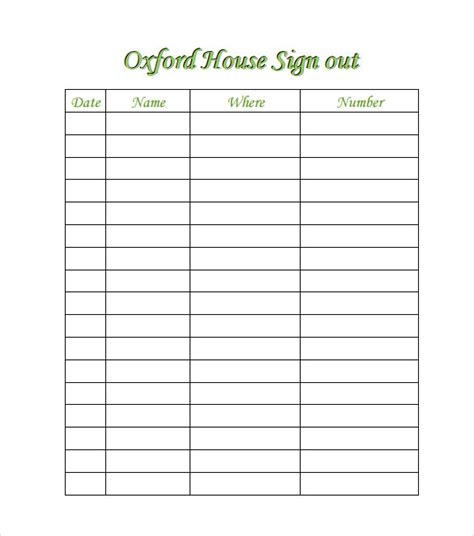 open home register template sle open house sign in sheet 14 documents in pdf