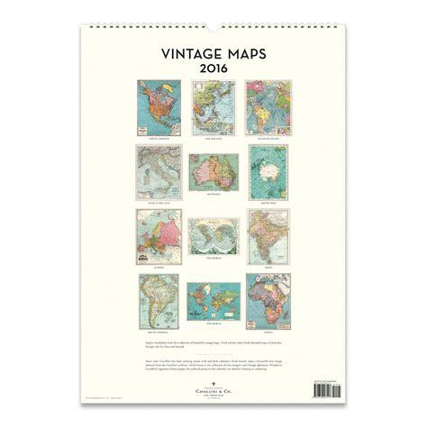 Cavallini Calendars Cavallini Papers 2016 Wall Calendar Vintage Maps 13 X
