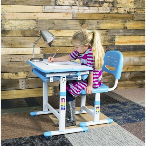 vivo vivo height adjustable childrens desk  chair