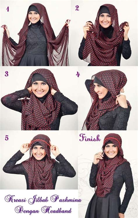 tutorial jilbab pashmina cashmere 45 best images about hijab tutorials on pinterest shawl