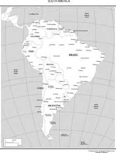 map of south america black and white black and white map of south america