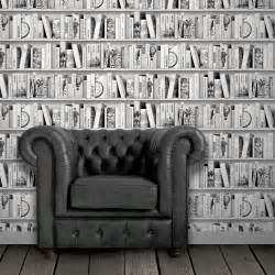 papier peint intiss 233 biblioth 232 que gris fonc 233