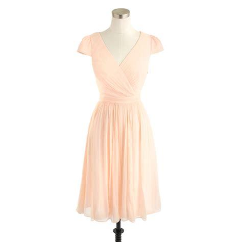 Dress Mirabelle j crew mirabelle dress in silk chiffon in pink soft lyst