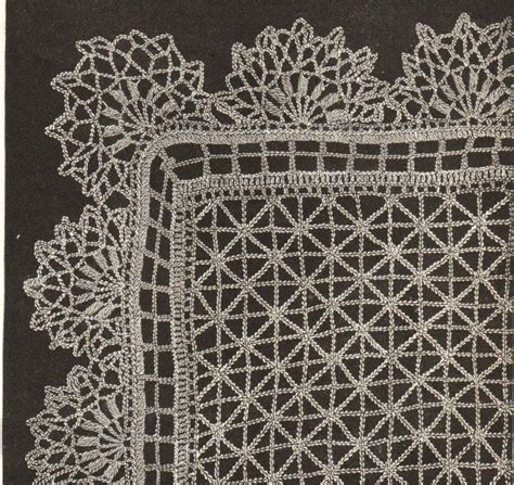 crochet lace curtain pattern vintage lace shawl crochet pattern 1890s pdf email delivery