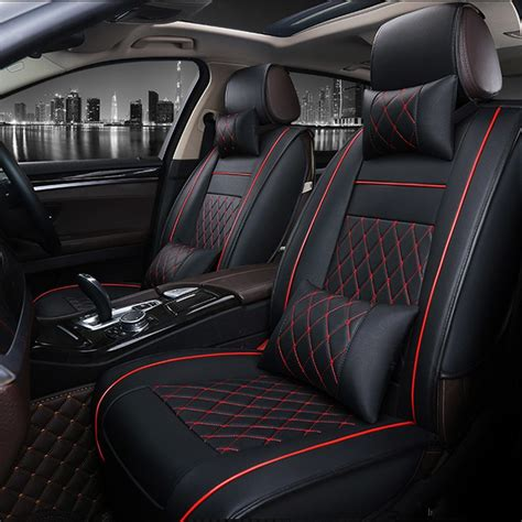 Car Leather Types by Universal Pu Leather Car Seat Covers For Jaguar Xf Xe Xj F