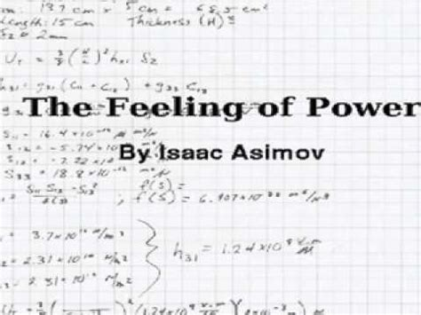 a feeling of power the feeling of power youtube