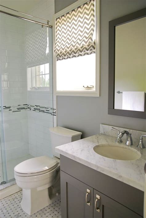 chevron bathroom ideas gray chevron roman shade contemporary bathroom