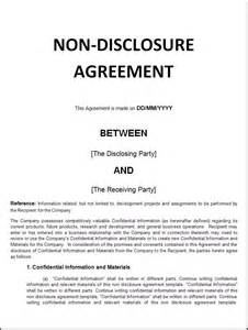 nda template for startup the 25 best ideas about non disclosure agreement on