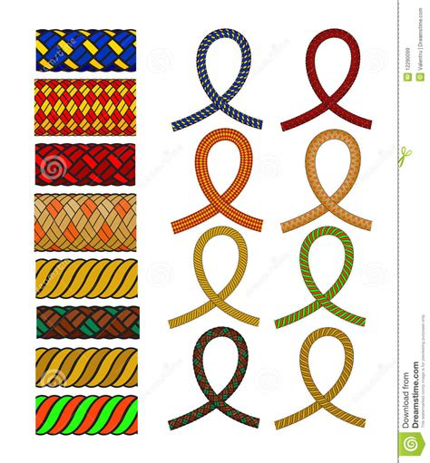 rope pattern brush and ready made rope elements rope pattern brush royalty free stock images image 12290099