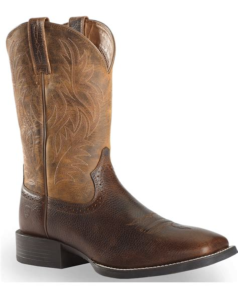 square toe boots ariat ariat sport western cowboy boots square toe country