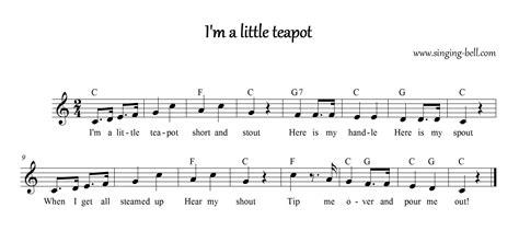 i m a lyrics i m a teapot free nursery rhymes