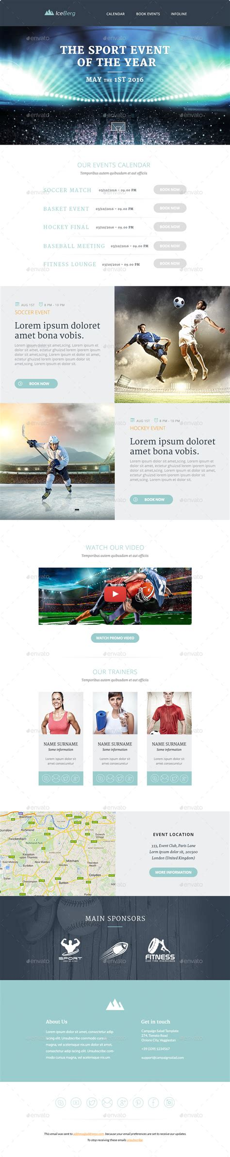 Iceberg For Promo iceberg multipurpose email templates by mailsalad